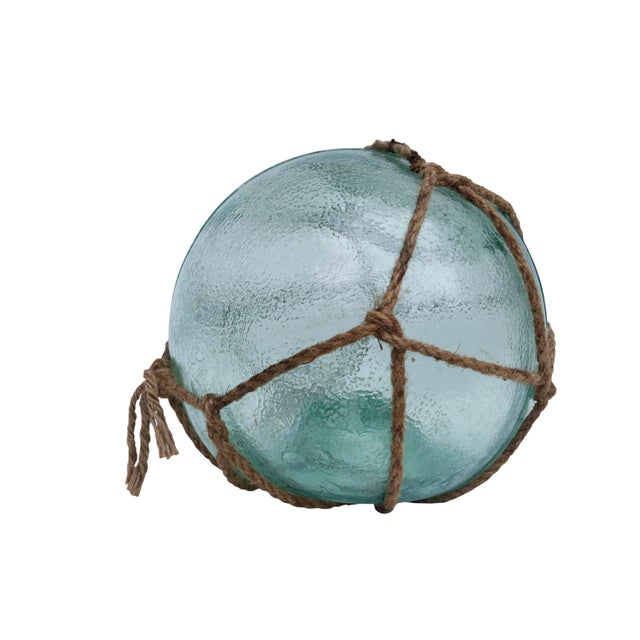 Country Large Hand Blown Glass Fishing Floats, Set of 3 For Sale - Image 3 of 11