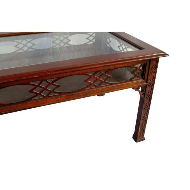 Wood Kindel Glass Display/Shadowbox Coffee Table For Sale - Image 7 of 11