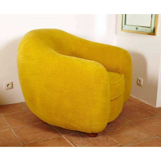 """Jean Royère Jean Royère Genuine Iconic """"Ours Polaire"""" Pair of Chairs For Sale - Image 4 of 11"""