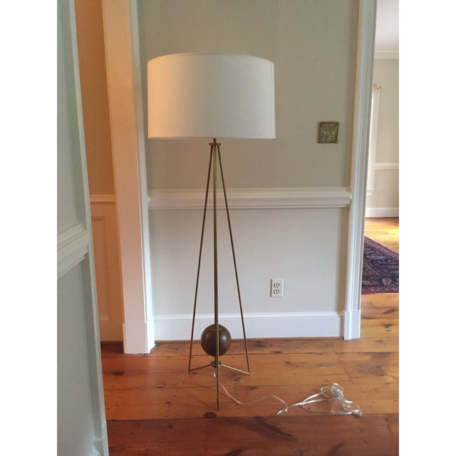 Jonathan Adler Ohai Walnut & Brass Lamp - Image 3 of 10