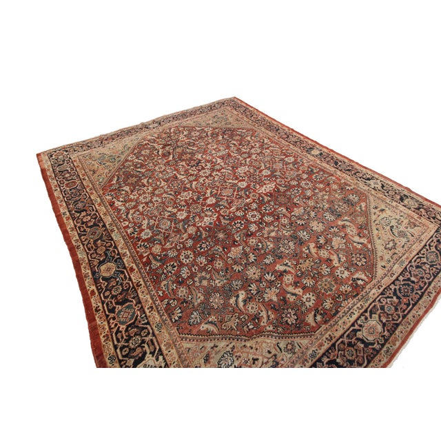 This is a magnificent Antique Persian Sultanabad. It has a rare geometric decorative design