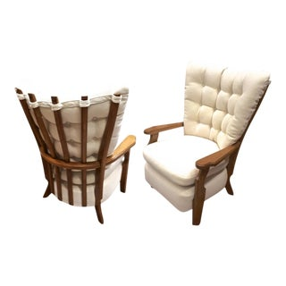 "Guillerme Et Chambron Pair of ""Finger"" Lounge Chairs For Sale"