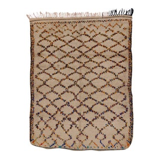Berber Moroccan Rug with Latticework Design