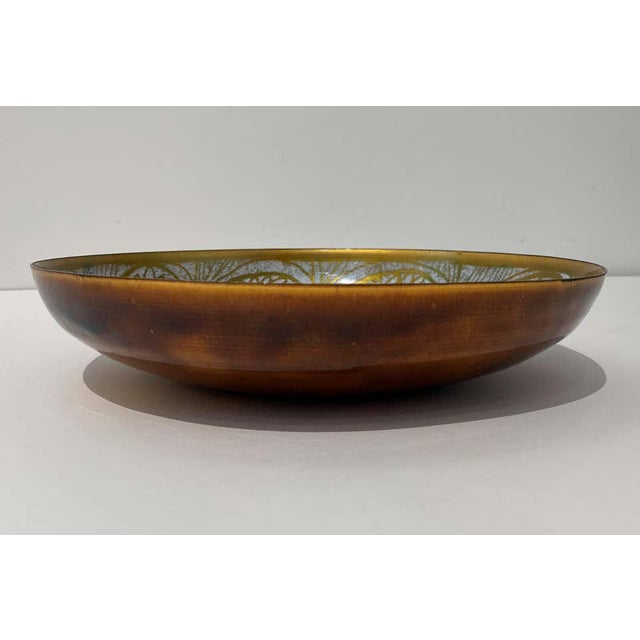 Vintage Mid-Century Mossiadis Enamel Bowl For Sale In West Palm - Image 6 of 12