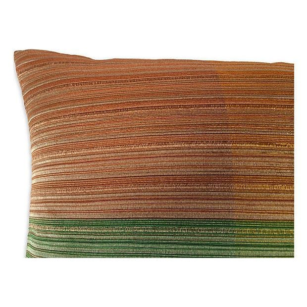 1960s Raw Silk Textile Pillow For Sale - Image 4 of 4