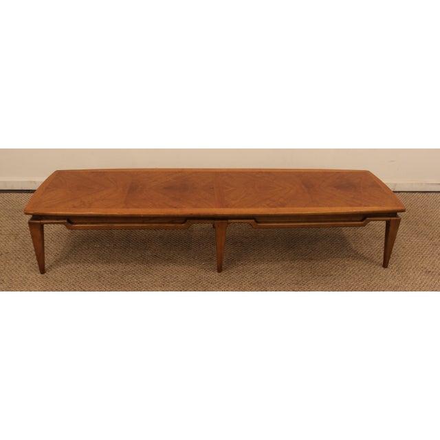 Vintage Mid Century Danish Modern Walnut Surfboard Coffee: Lane Danish Modern Walnut Surfboard Coffee Table