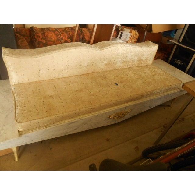 Hollywood Regency-Style Platform Sofa - Image 3 of 8