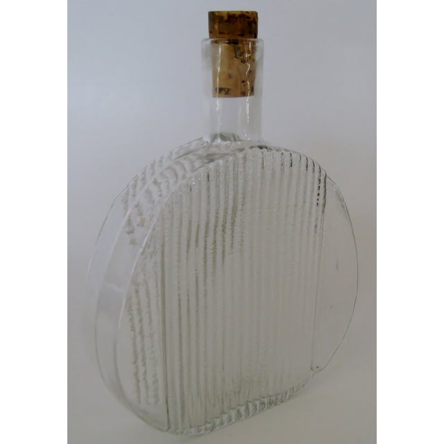 Vintage 1960s Finnish Clear Glass Art Bottle - Image 3 of 4