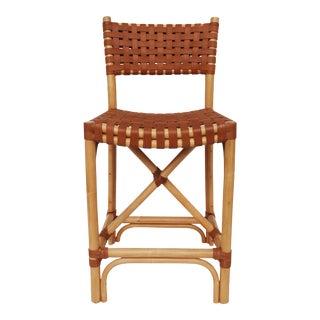 Malibu Counter Chair, Beige, Rattan For Sale