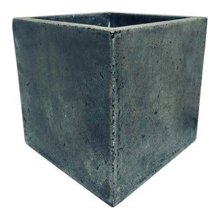 Gray Cement Planter For Sale