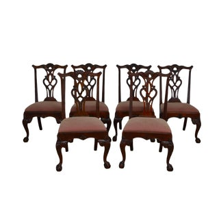 Early 21st Century Maitland Smith Ball and Claw Mahogany Dining Chairs- Set of 6 For Sale