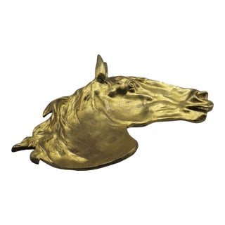 Early Equestrian Gilt Bronze Catch-All For Sale