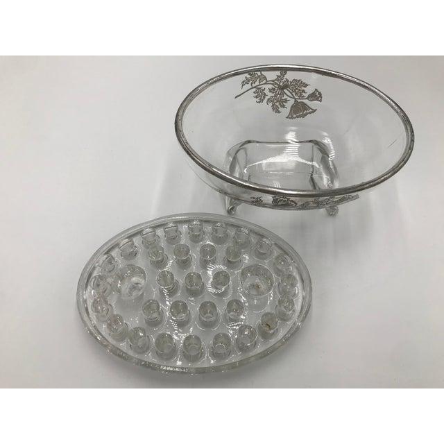 Vintage Glass Bud Vase For Sale - Image 4 of 6