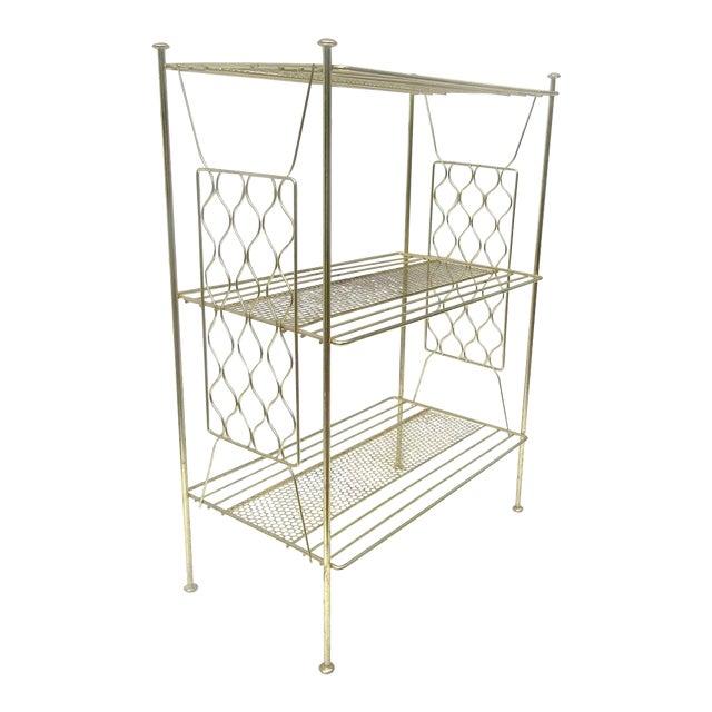 Vintage Metallic Brass Display Shelf - Image 1 of 8