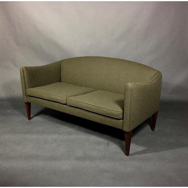 Illum Wikkelsø 2-Seat Wool Sofa, Denmark 1960s For Sale - Image 12 of 12