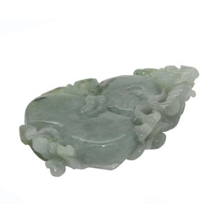 Jade Pendant With Dragon on Gourd Stepping on Money, Roots and Leaf Preview