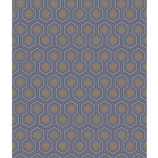 Cole & Son Hicks Hexagon Wallpaper Roll - Dk Gry/Bronz For Sale
