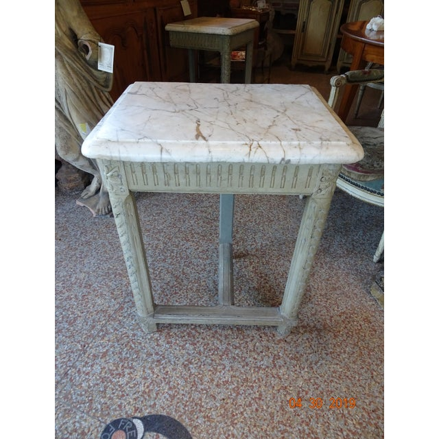 Pair of French Marble Top Consoles For Sale - Image 11 of 11