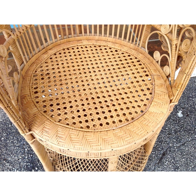 """""""Emmanuelle"""" Style """"Peacock"""" Chair For Sale - Image 10 of 11"""