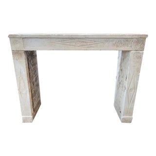 18th Century French Limestone Mantel For Sale