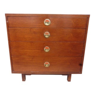 Mid-Century Modern Dunbar Wormley Natzler Tile Janus 4 Drawer Chest For Sale