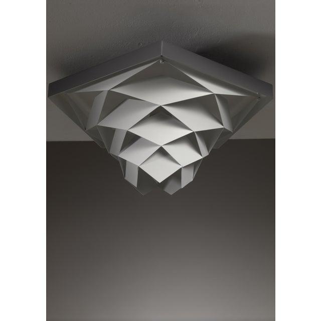 Mid-Century Modern Preben Dahl Symfoni Metal Ceiling Lamp, Denmark, 1960s For Sale - Image 3 of 3