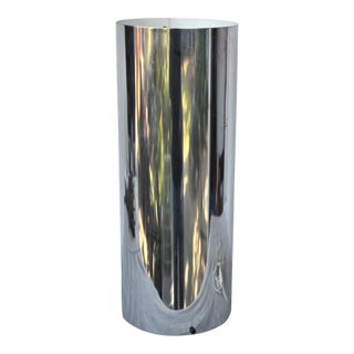 1960s Mid-Century Modern George Kovacs Chrome Cylinder Table Lamp For Sale