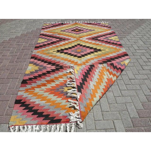 Anatolian Turkish Classic Kilim Rug For Sale - Image 12 of 13