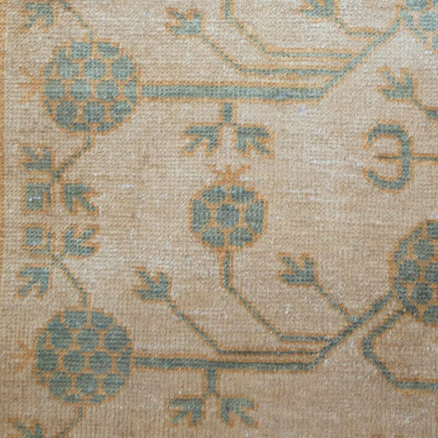 An original pure silk Khotan rug handwoven by master weavers in Khotan. This breathtakingly decorative and one of a kind...