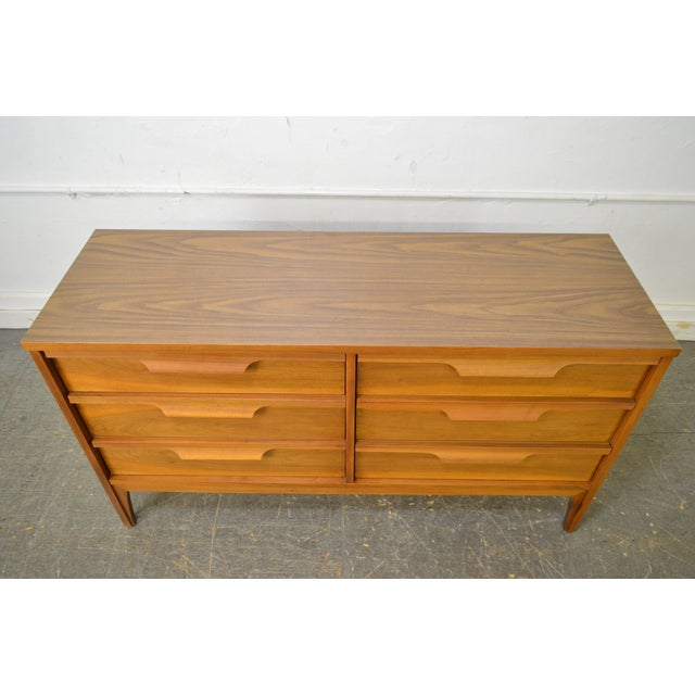 Johnson Carper Danish Modern Style Walnut Dresser - Image 8 of 11