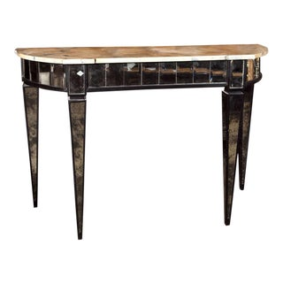 Maison Jansen Mirrored Demilune Console Table