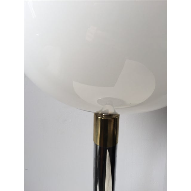 Vintage Chrome, Brass & Glass Ball Lamp - Image 4 of 10