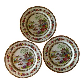 Paragon China England Manchu Dinner Plates - Set of 3 For Sale