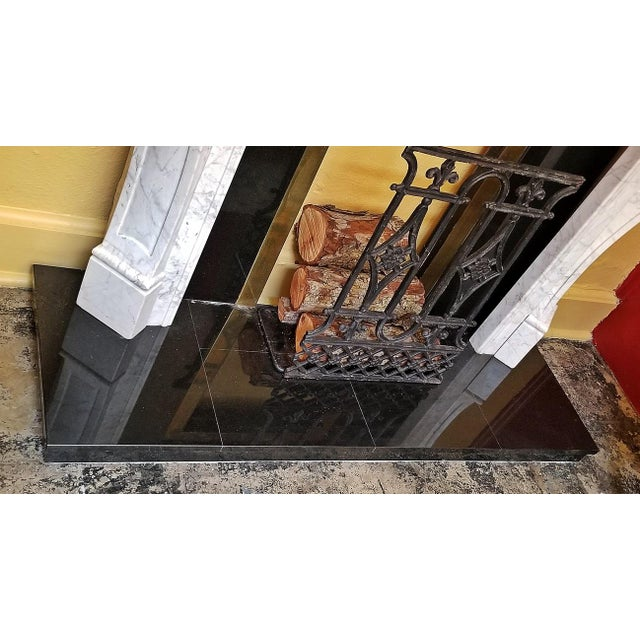 Black 20c Irish White Marble Fireplace - Complete For Sale - Image 8 of 11