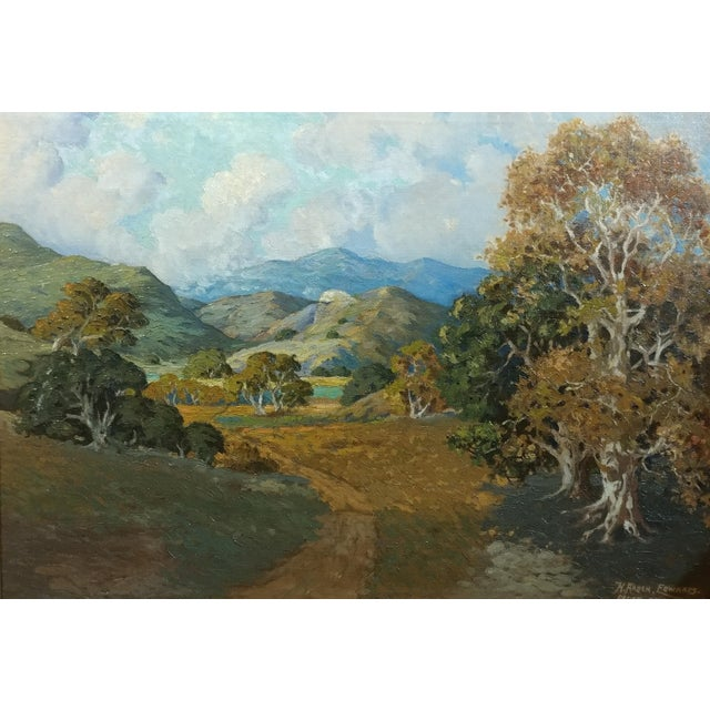 Realism Howard Arden Edwards- Eagle Rock Canyon- California Plein Air Oil Painting c.1925 For Sale - Image 3 of 10