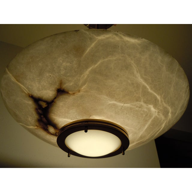 Lightolier Alabaster Pendant Light - Image 3 of 9