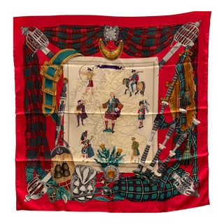 Hermes Scotland Commemorative Silk Scarf For Sale