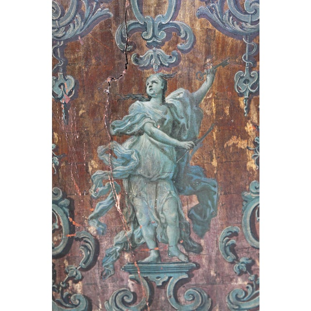 18th century Italian Neoclassical Paint and Parcel Gilt Panels / Roman Goddesses / Muses - Image 3 of 10