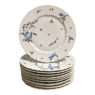 White Haviland Limoges France Dinner Plate - Set of Ten For Sale