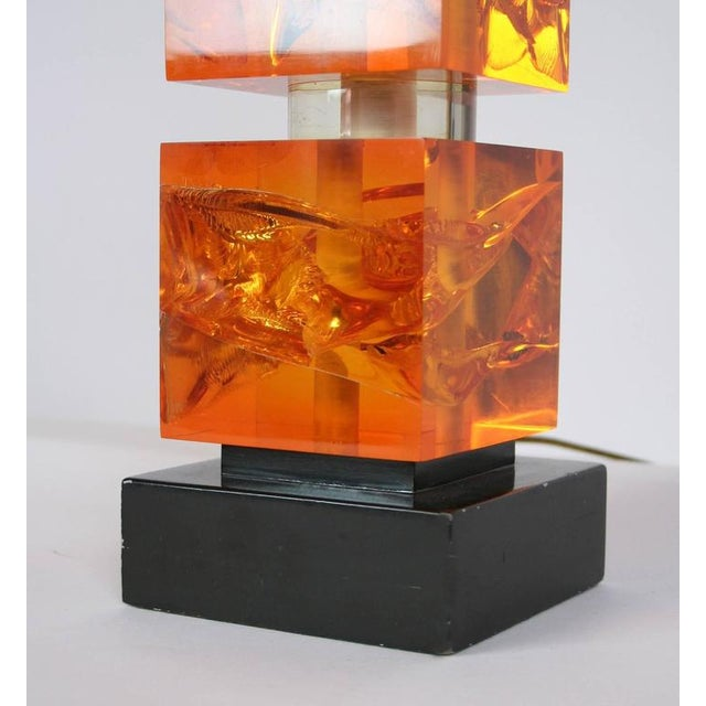 1970s French Fractal Resin Lamp For Sale - Image 4 of 5