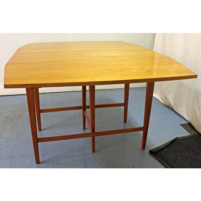 Planner Group Mid-Century Modern Paul McCobb Planner Group Drop Leaf Dining Table For Sale - Image 4 of 12