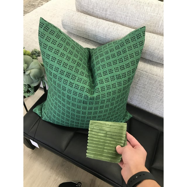 Custom designer fabric pillow Down insert included ERICA BRYEN DESIGN x NATASHA MINASIAN INTERIORS Only used in a...