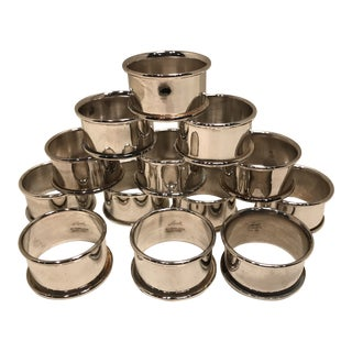 Classic Silver Plate Napkin Rings by Leonard - Set of 13 For Sale