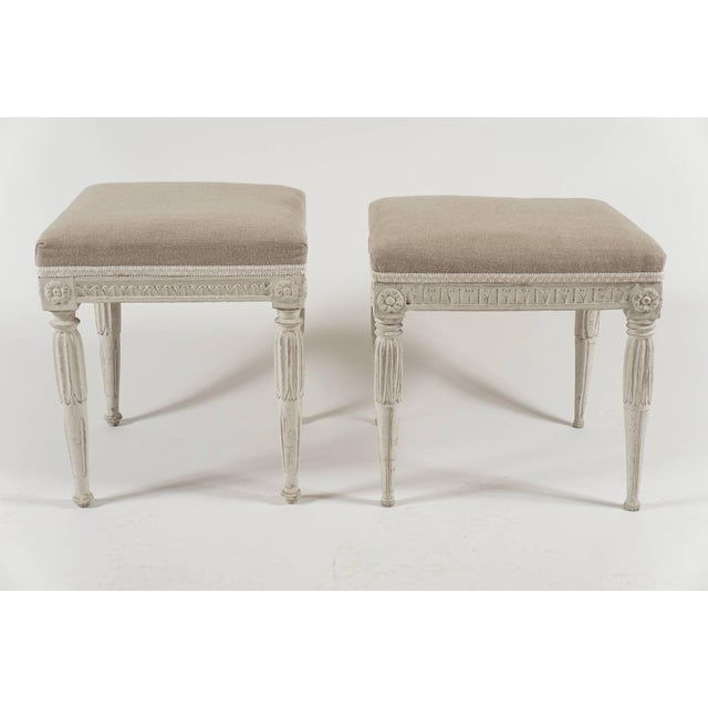 Swedish Gustavian Period Painted Stools, Circa 1790 For Sale - Image 4 of 10