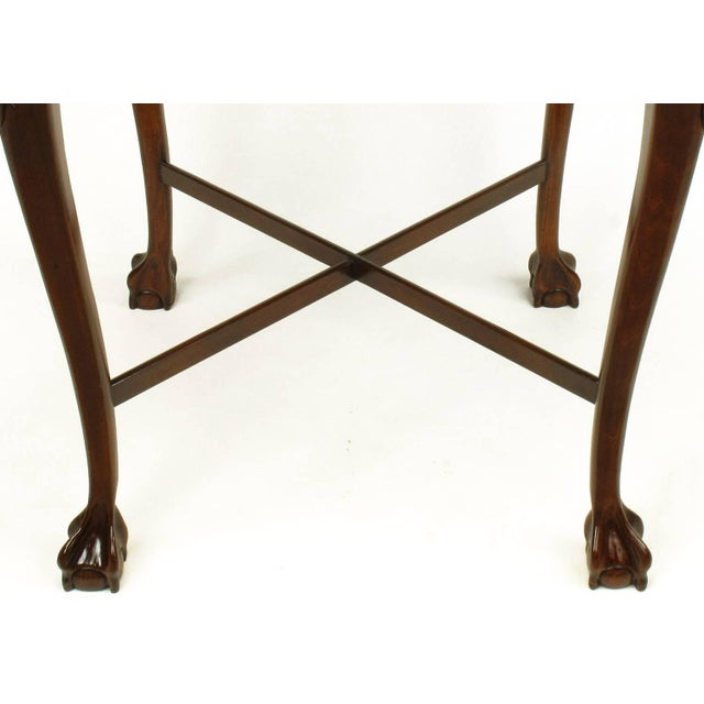 Brown Pair of Mahogany Ball and Claw Footed George II Style End Tables For Sale - Image 8 of 11