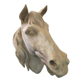 French Terracota Horse Head, 20th Century For Sale