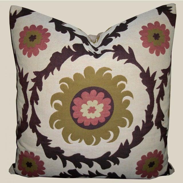Quadrille Woven Designer Pillows - A Pair - Image 2 of 4