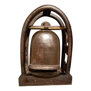 Burmese Elephant Bell on Stand For Sale