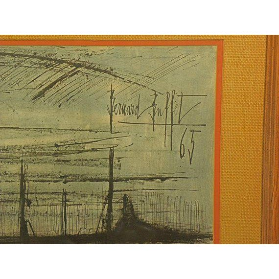1960s Vintage French Expressionist Bernard Buffet Lithograph For Sale - Image 5 of 9