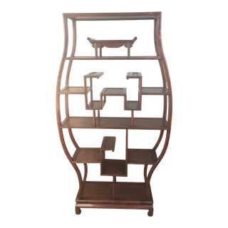 Asian Etagere Display Shelf For Sale